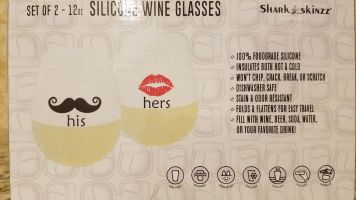 his and hers silicone wine glasses wedding gifts wedding gifts for men wedding gifts for women.